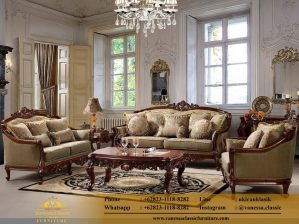 Kursi Sofa Klasik Oscar Model Ornate